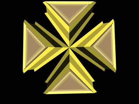 scalable: iron cross on black background Illustration
