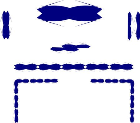 blue design elements on white