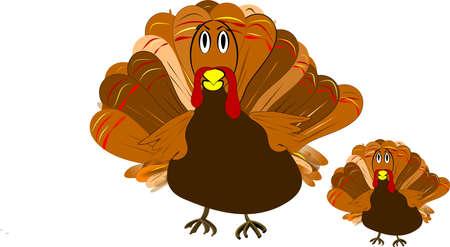 turkey illustration in cartoon format clip art