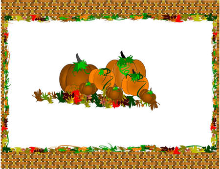 placemat: halloween placemat with basket weave border Stock Photo
