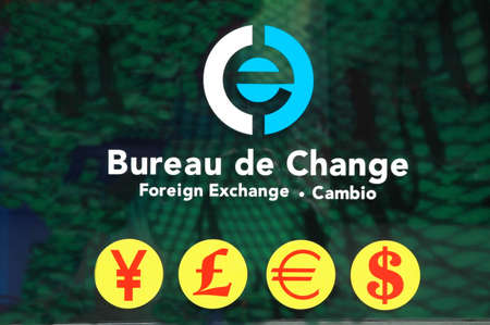 currency exchange signnage