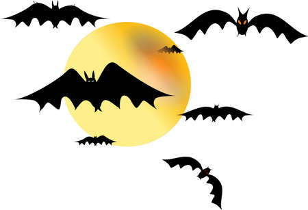 bats on white  Stock Photo - 4849790