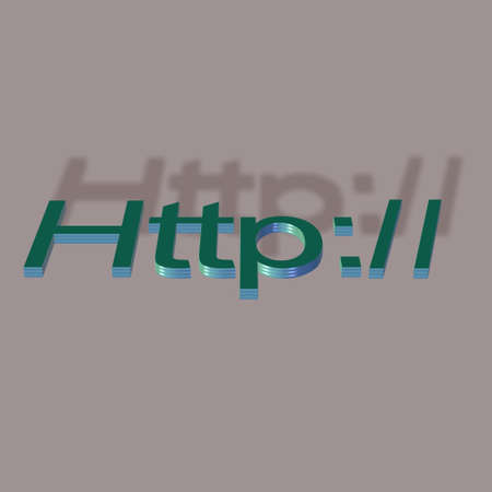 e commerce: 3d signage for http