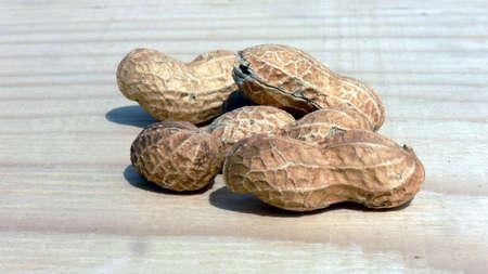goober peas: peanuts on neutral background Stock Photo