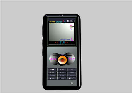 gps device: personal media device in 3d illustration