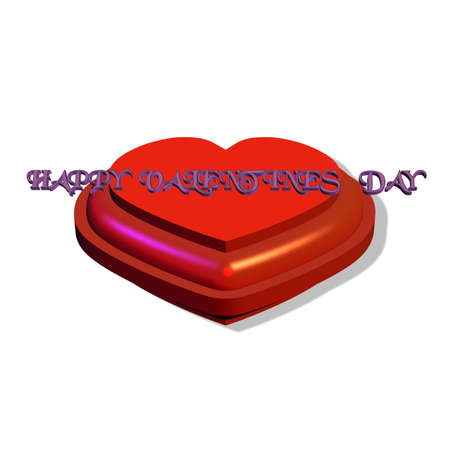 mothering: valentines heart in 3d on white  Illustration
