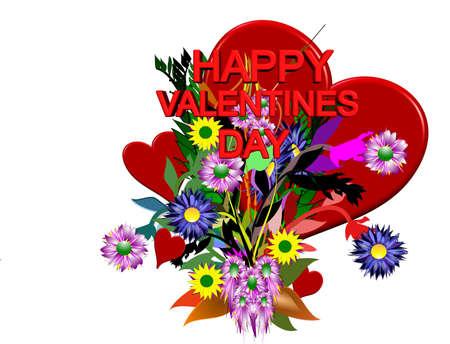 Je vous en 3d valentines  Banque d'images - 5902183