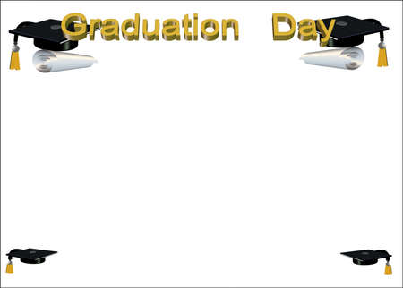 3d grad border on white Ilustracja