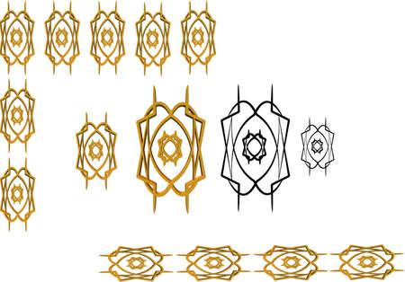 ornate border and frame in 2d and 2d Reklamní fotografie - 6844531