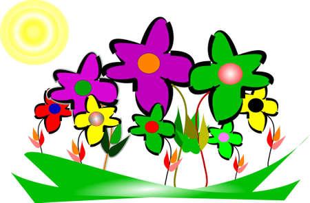 spring thru my eyes in 3d  Vector