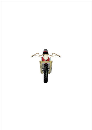 frontal:  frontal view of motorcycle on white in 3d