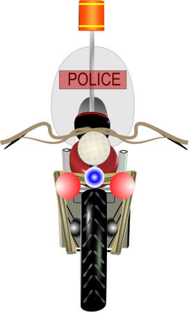 police motorcycle in 3d on white  Stock Vector - 6859931