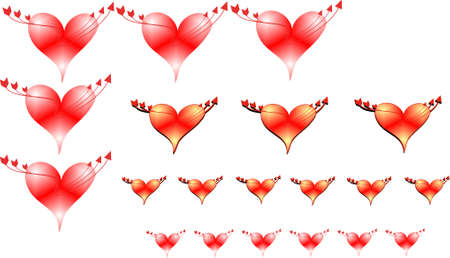 hearts r us in 3d on white  for valentines Vector