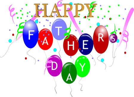 happy fathers day greeting on white  Stock Vector - 6986448