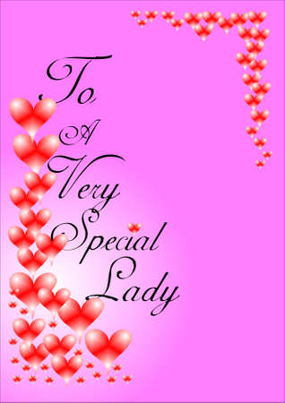 pierce: special lady greeting on pink for loved one on special days Illustration