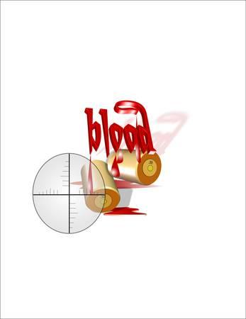 화이트 3d에서 거리에서 혈액