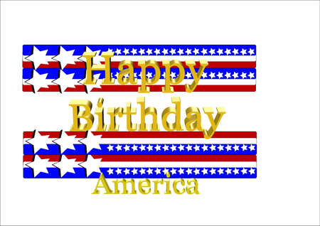 happy birthday america for their annual fouth of july Stock Vector - 7026812