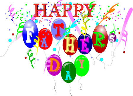 happy fathers day  on white Stock Vector - 7054842