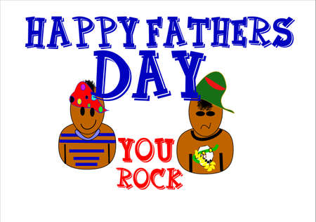 happy: happy fathers day you rock dad on white