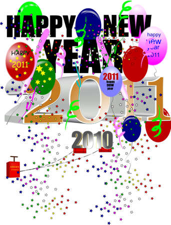 happy new year 2011 with dynamite under 2010 photo