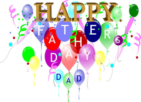 3d happy fathers day on white Vector