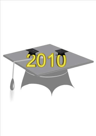 transparent grad mortar and text  Vector