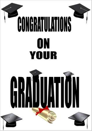 graduation congratulations border in newspaper headlines text Vector