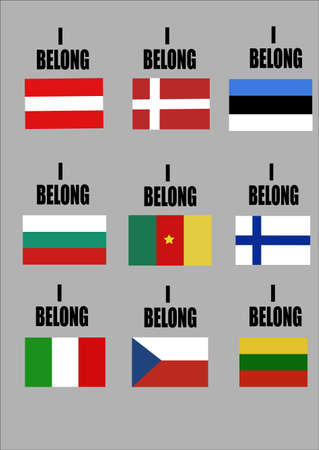 i belong series of country flags for sporting events  Vector