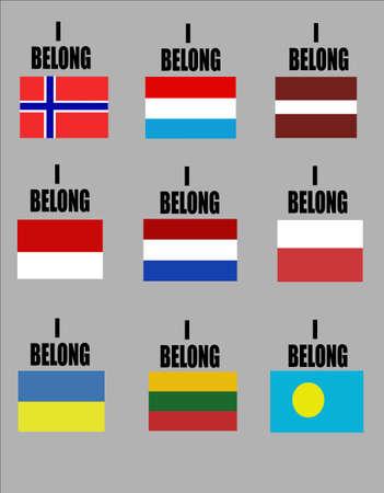 Je fais partie de la série des drapeaux des pays pour les événements sportifs  Banque d'images - 7186689