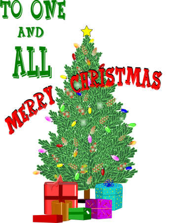 merry christmas  to all on white Stock Photo - 7186691