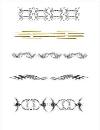 lijn tekeningen op wit met pauwen op elkaar zijn gericht