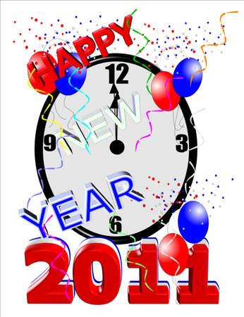 new years countdown on white Stock Photo - 7261003