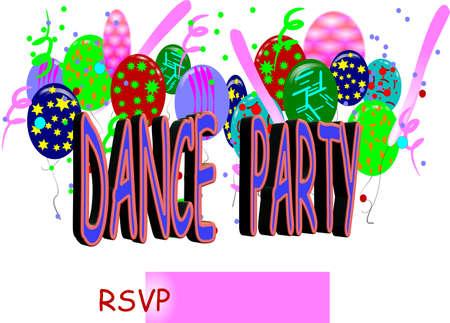 office party: invitaci�n de parte de la danza  Vectores