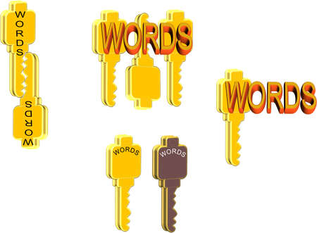 article writing: keywords Illustration