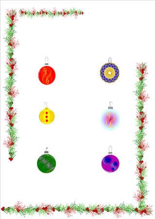 Holly en ornamenten voor Kerstmis