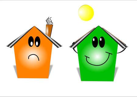 pannello legno: sorride a risparmio sui costi energetici Vettoriali