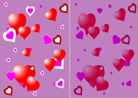 valentine hearts backgrounds side by side