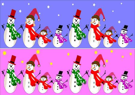bordering: familia de mu�eco de nieve banners
