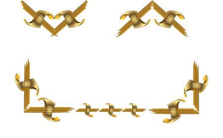 3d gold elements  Vector