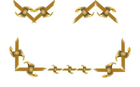 gold: 3d gold elements