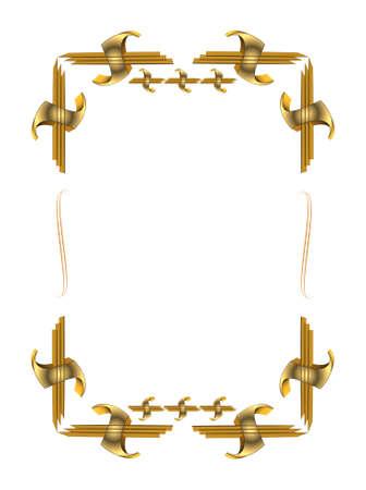3d gold frame Stock fotó - 8794663