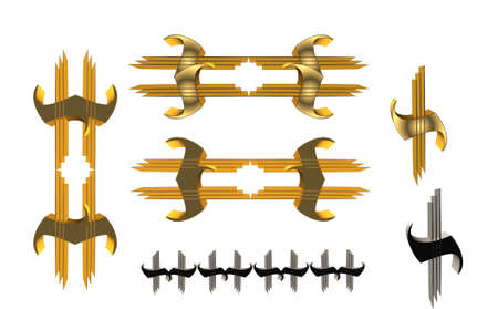 gold: gold tags and corners Illustration
