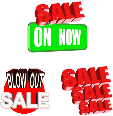 sale signage for major events Stock Vector - 9054890