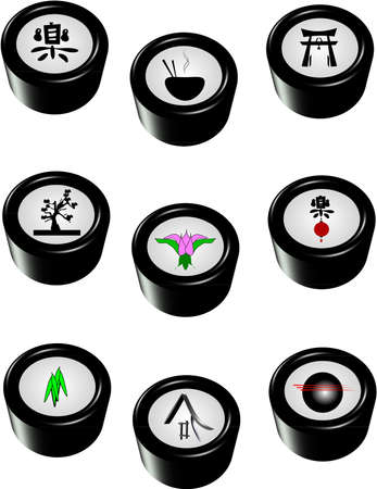 buttons in 3d on white Stock Photo - 9215654