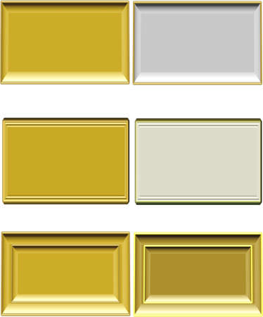 framed: metal labels in various designs