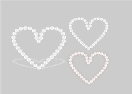 heart of pearls Ilustração