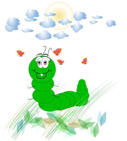 spring caterpillar Stok Fotoğraf
