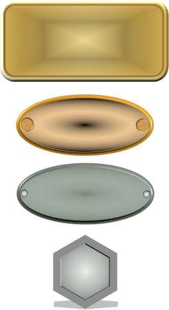 name plates: 3d pewter name plates