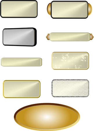 alloys: assorted plaques on white Illustration