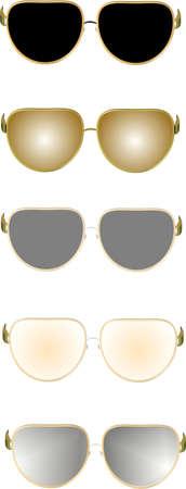 sun glass: gafas de sol en 3d en blanco